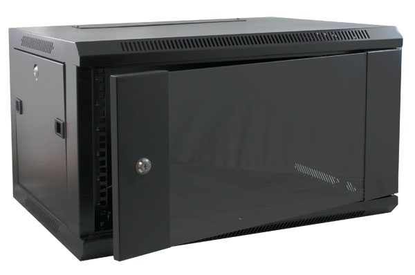 excel 600mm wall cabinet 9u black